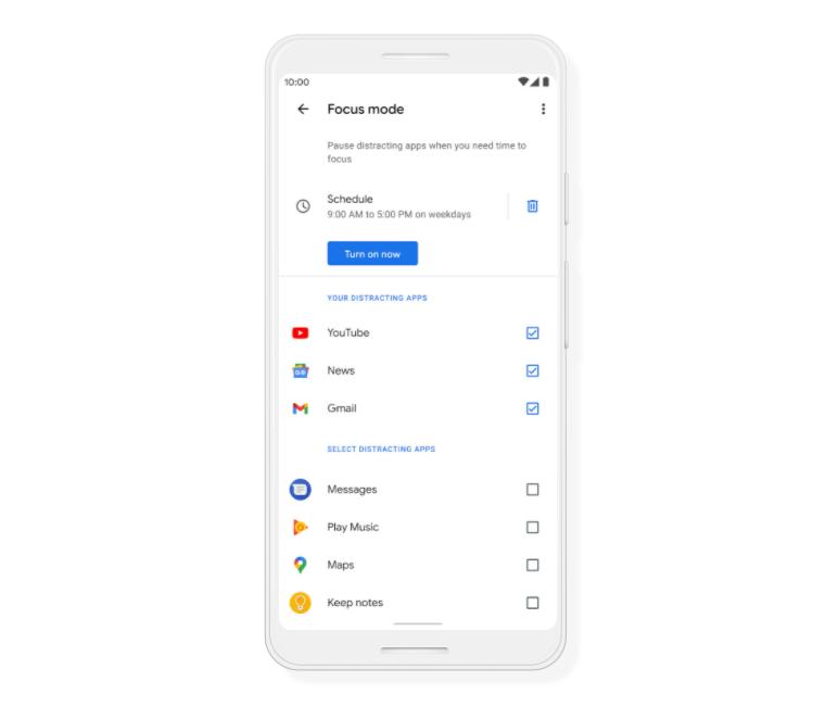 Focus Mode ในแอป Digital Wellbeing บนแอนดรอย