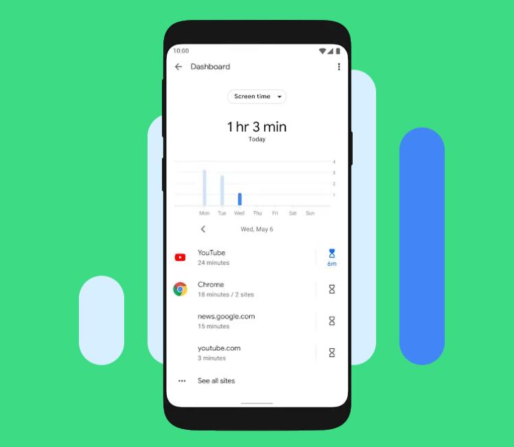 App Timersในแอป Digital Wellbeing บนแอนดรอย